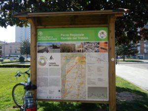 Indicazioni Ciclovia del Trebbia a Piazzale Marconi - Stazione Ferroviaria di Piacenza