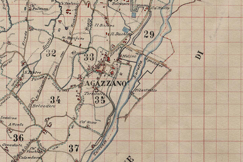 Catasto Storico del territorio di Agazzano
