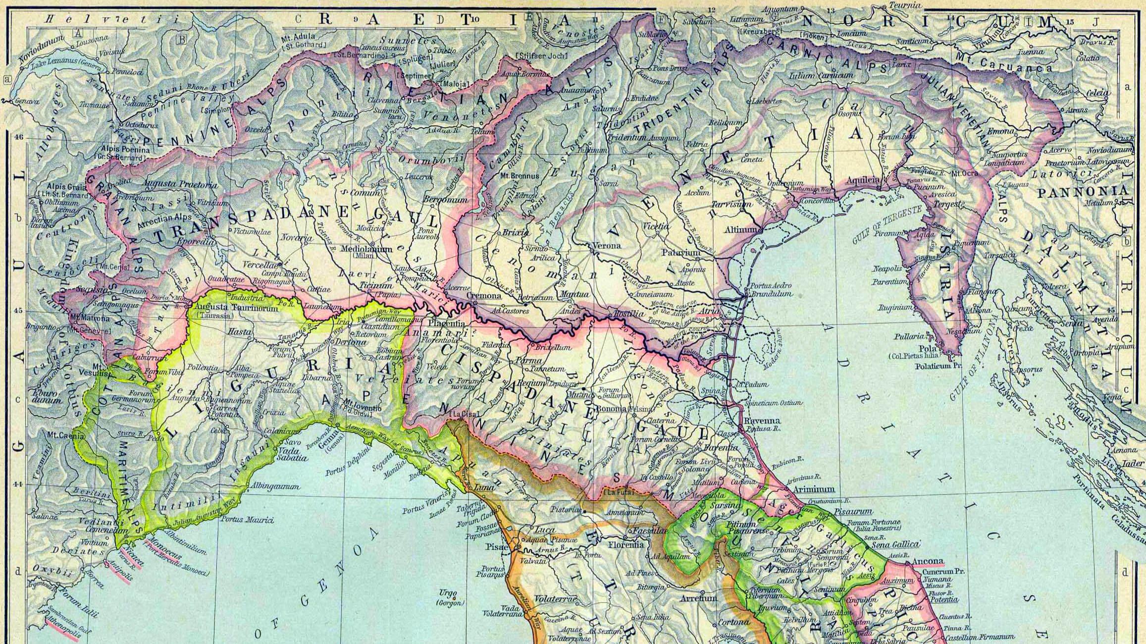 Regioni dell'Italia augustea