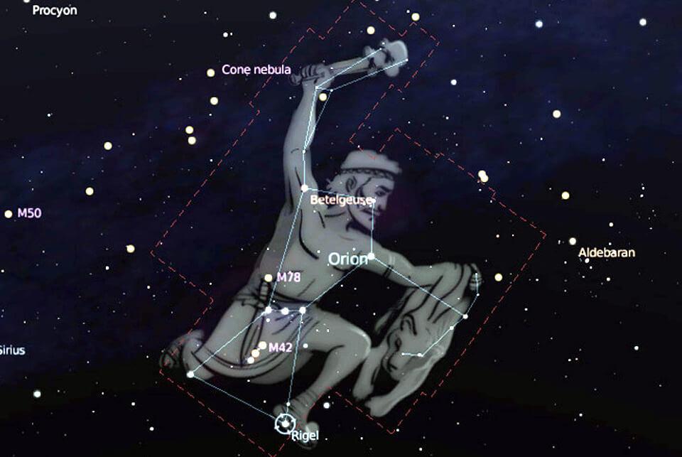 Rigel - Betelgeuse - Bellatrix - Orionis - Saiph