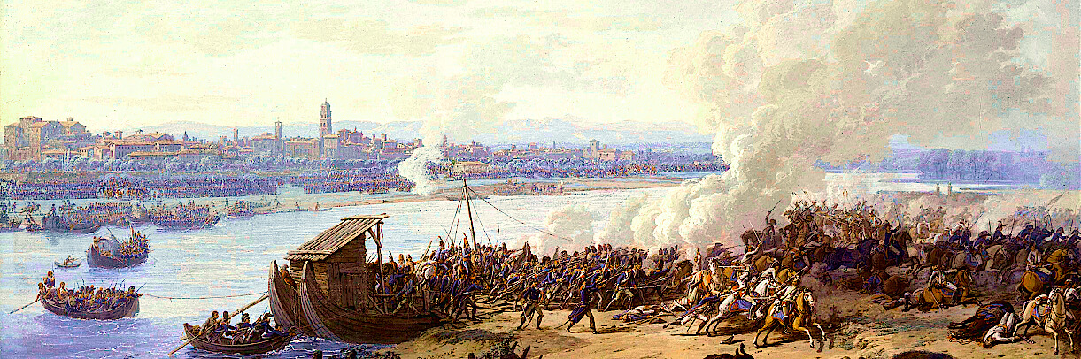 I francesi passano il Po a Piacenza, 7 maggio 1796 (Giuseppe Pietro Bagetti)